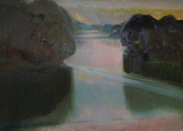 Baj Stanisław Rzeka Bug, Olej NaPłótnie, 100x60, 2009